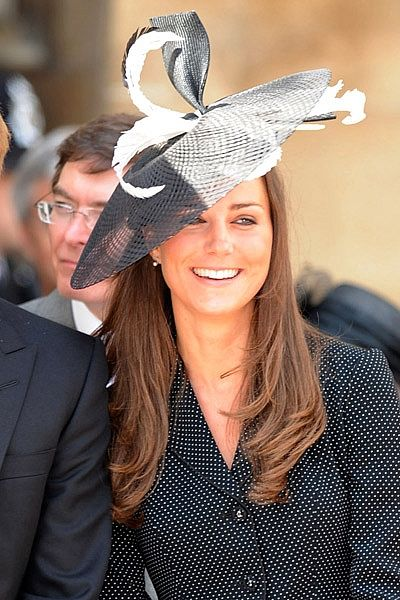 cad3f140079 Catherine Middleton wears a Philip Treacy hat for the Order of the Garter  service at Windsor Castle in 2008.