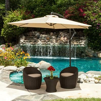 Buy Pure Garden 10 Foot Aluminum Patio Umbrella With Auto Tilt Lime Green  By Destination