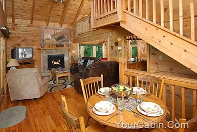 Knotty And Nice 1 Bedroom Cabin Rental With Images Cabin Homes Log Cabin Homes Smoky Mountains Cabins
