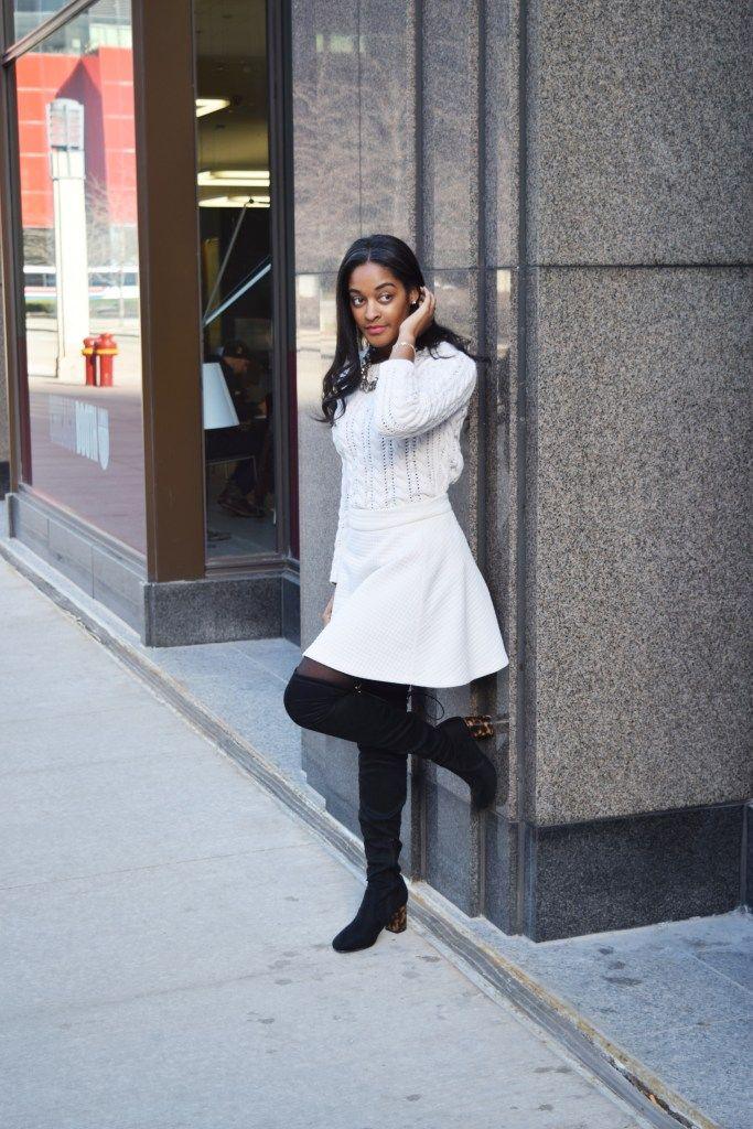 386f7c7a0e2 How to Wear White in the Winter - Monochromatic Winter White ...