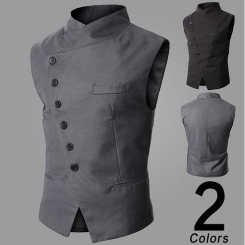 Casual Business Dress Vest Men Slim Fit Formal Suit Waistcoat Tops Jacket Vest in Clothing, Shoes & Accessories, Men's Clothing, Vests | eBay