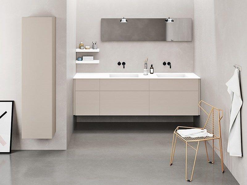 Stilfuldt Badevaerelse Uden Greb Og Med Tynd Vask Dansani Calidris Baderom Design Interior Vask