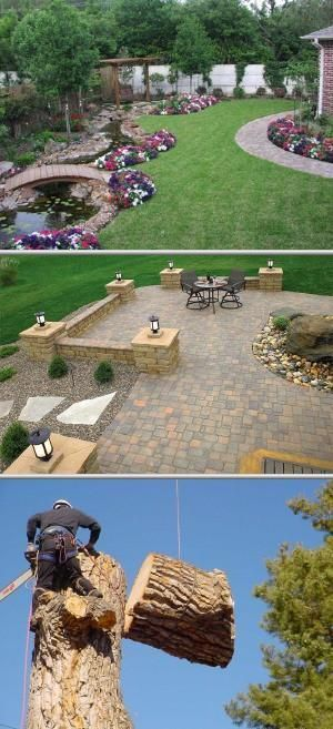 This company does landscaping jobs and other yard work ...