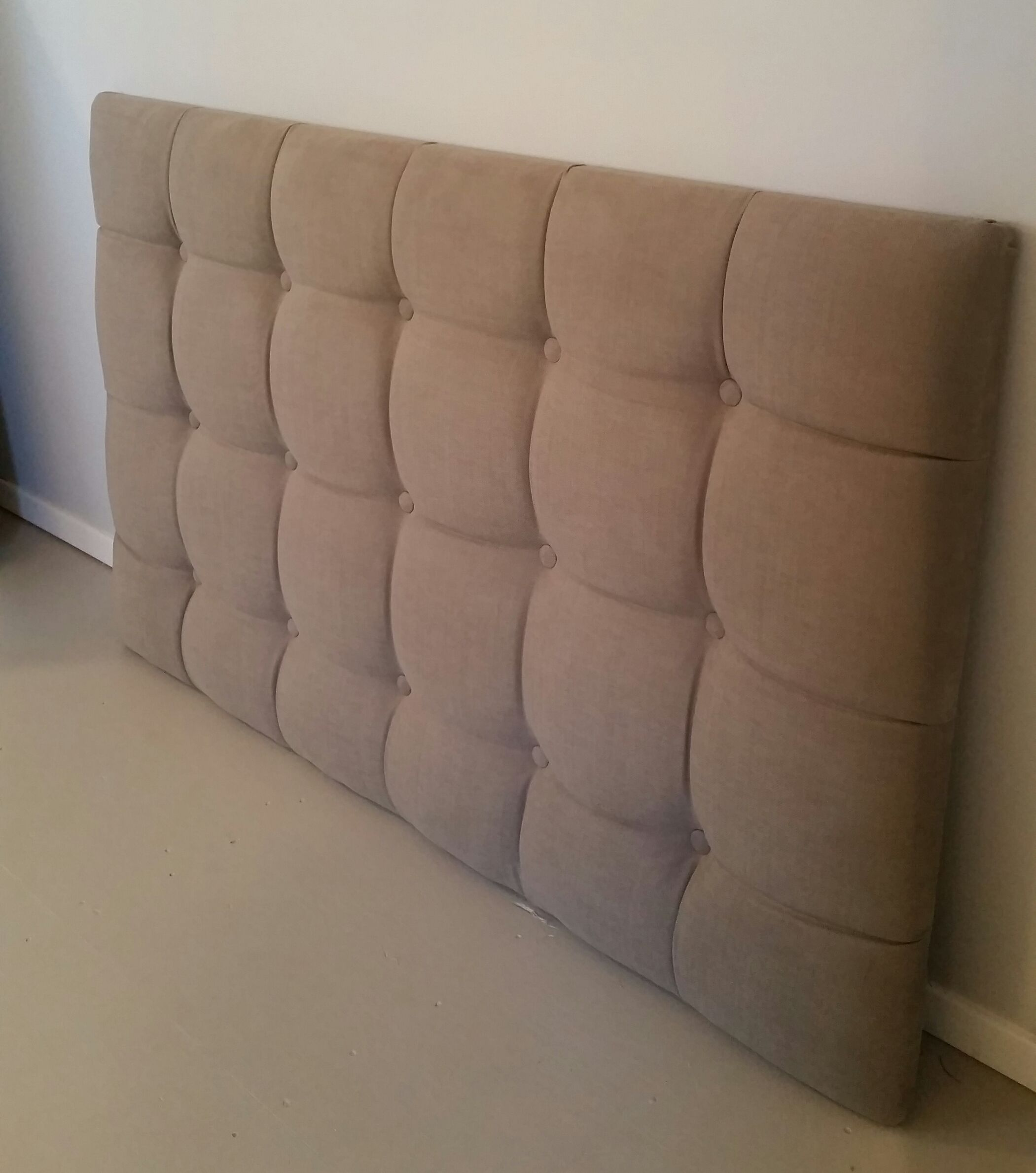 Full Size Grey Tufted Upholstered Headboard Custom Wall