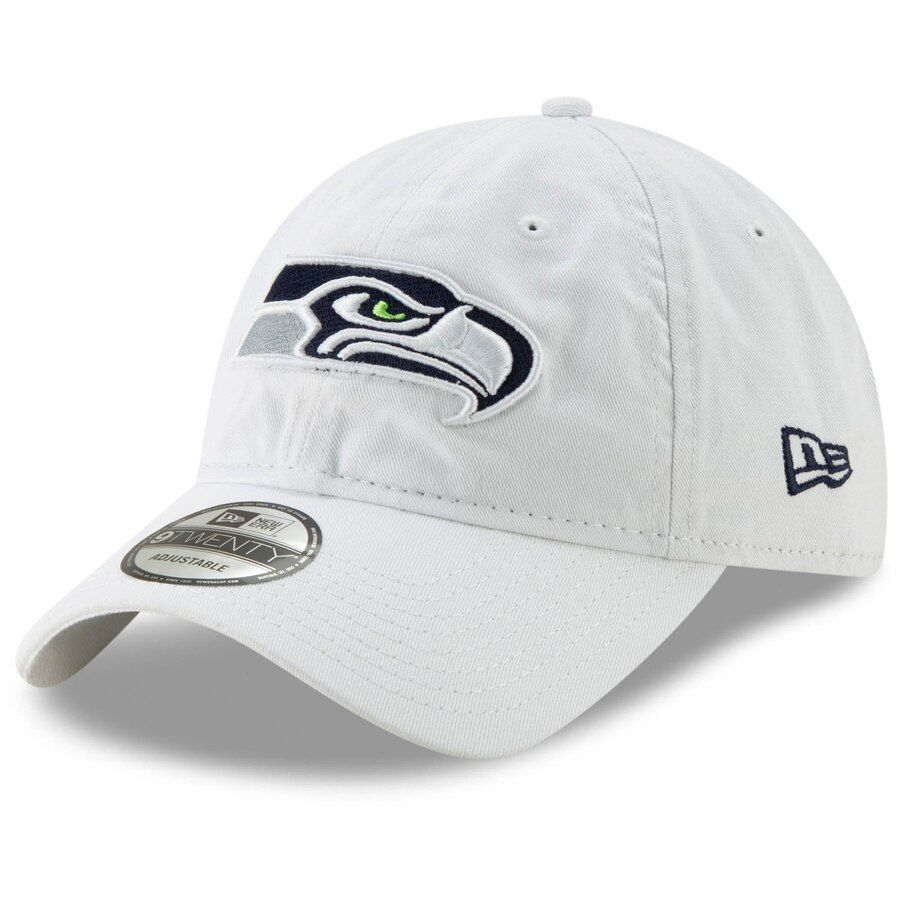 58a27f40 Men's Seattle Seahawks New Era White Core Classic White 9TWENTY Adjustable  Hat, Your Price: