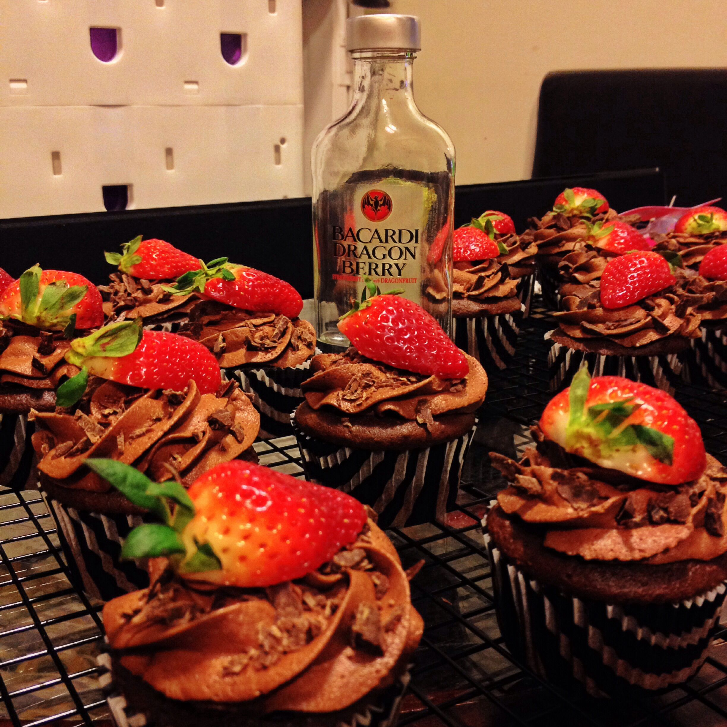 I Call Them The Devils Advocate Devils Food Cupcake Infused With Bacardi Dragonberry Cho Alcohol Infused Dessert Alcoholic Desserts Baked Dessert Recipes