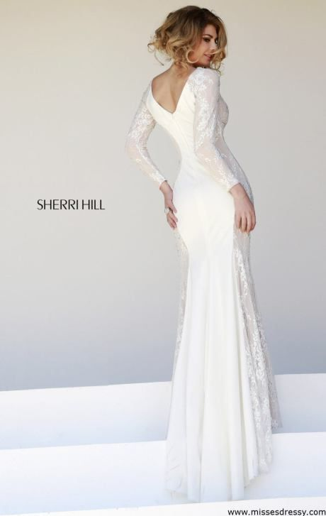Sherri Hill 32027 Dress Missesdressy Com Prom Dresses Long With Sleeves Lace Evening Dresses White Long Sleeve Prom Dress