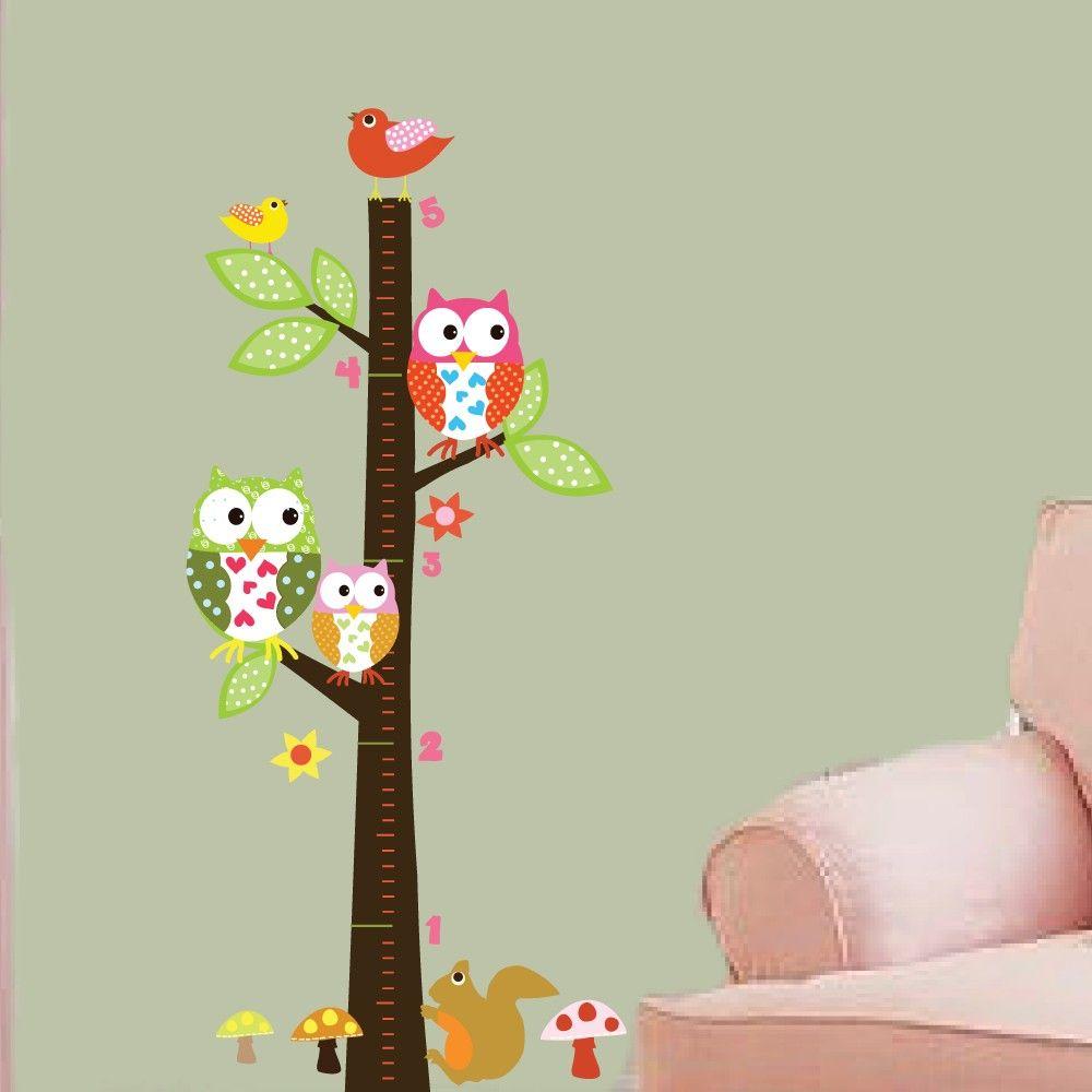 Vinyl wall decal vinyl wall art growth chart owls birds vinyl wall decal vinyl wall art growth chart owls birds flowers geenschuldenfo Images