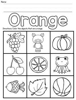 Color Recognition Activities Color Worksheets For Preschool Preschool Colors Literacy Activities Preschool