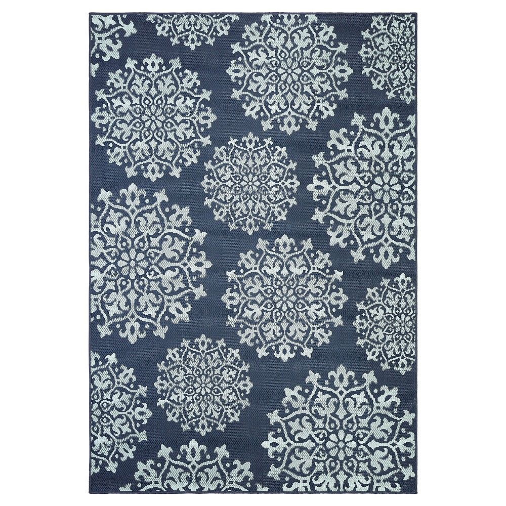 Sanibel 10 X 14 Outdoor Rug Navy Mohawk Home Blue Products