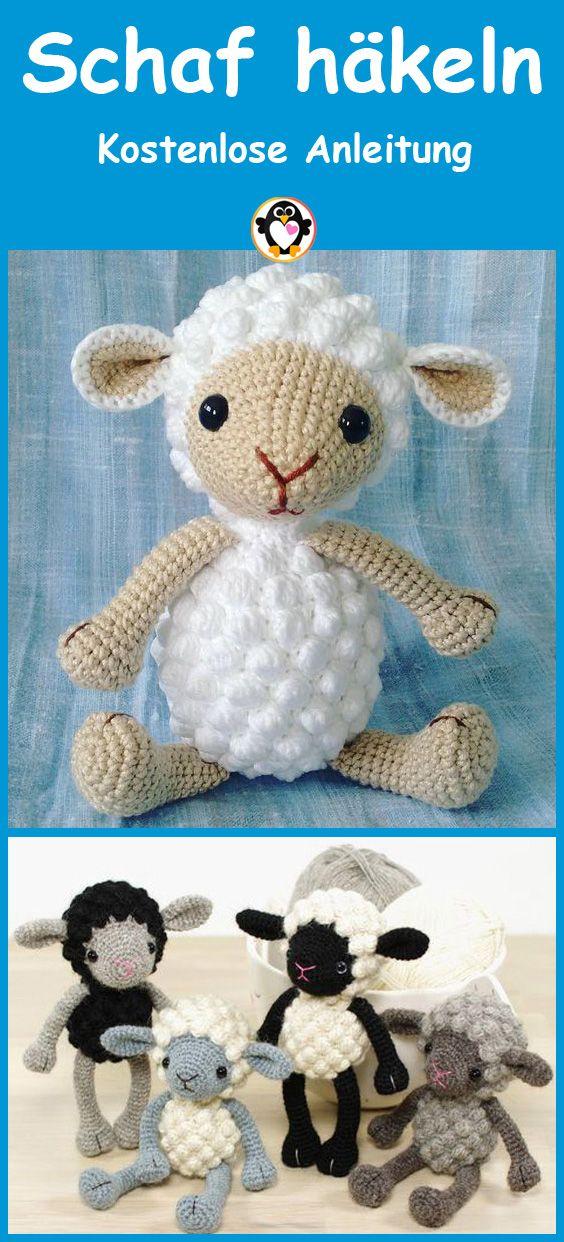 Schaf häkeln – Einfache und kostenlose Anleitung