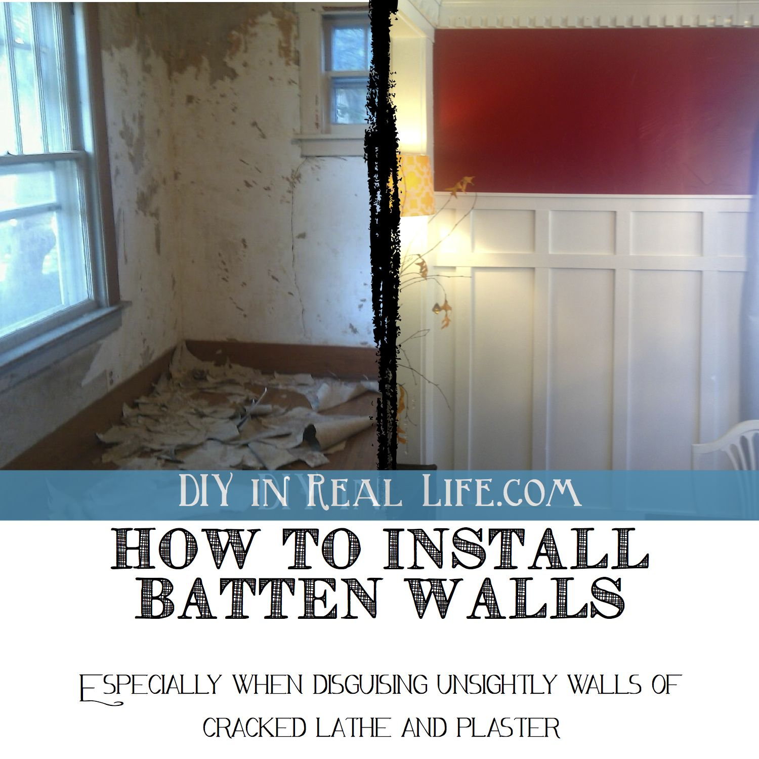 How Diy Batten Walls Saved Our Lathe Plaster Dining Room Home Diy Batten Diy Remodel
