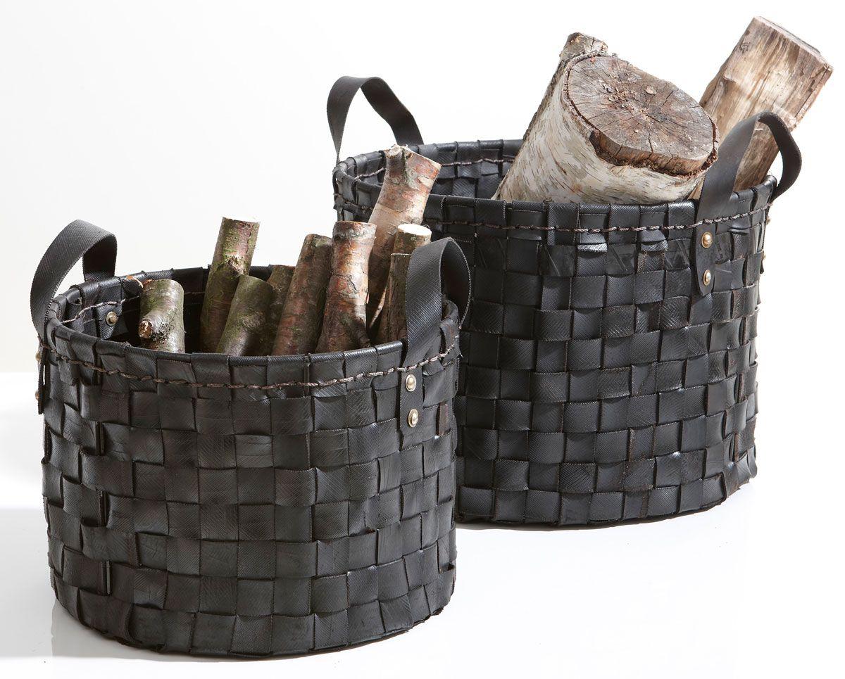paniers en pneu recycl set de 2 becquet deco pinterest macetas. Black Bedroom Furniture Sets. Home Design Ideas
