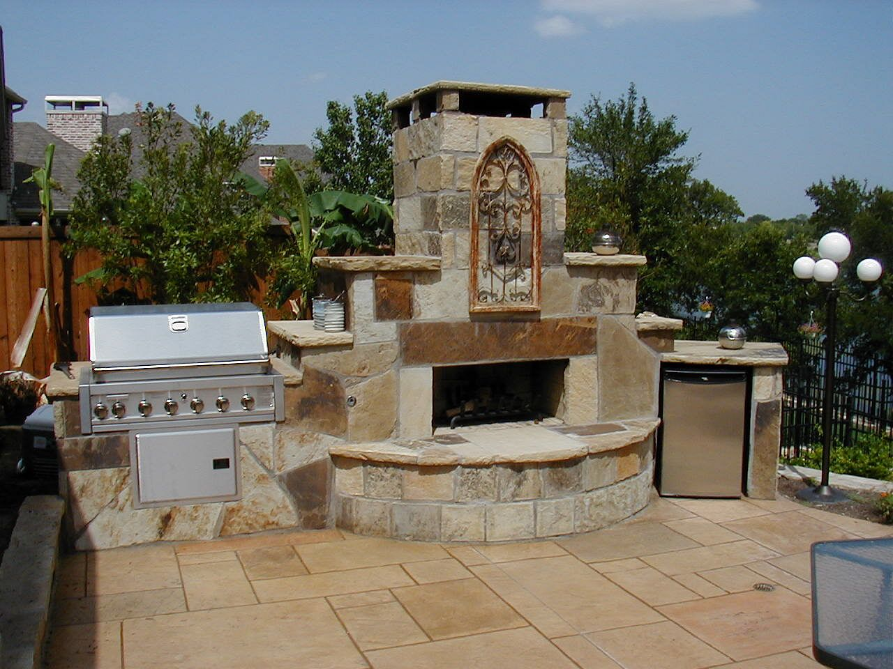 tulsa outdoor fireplace outdoor grill area grill area and gas bbq