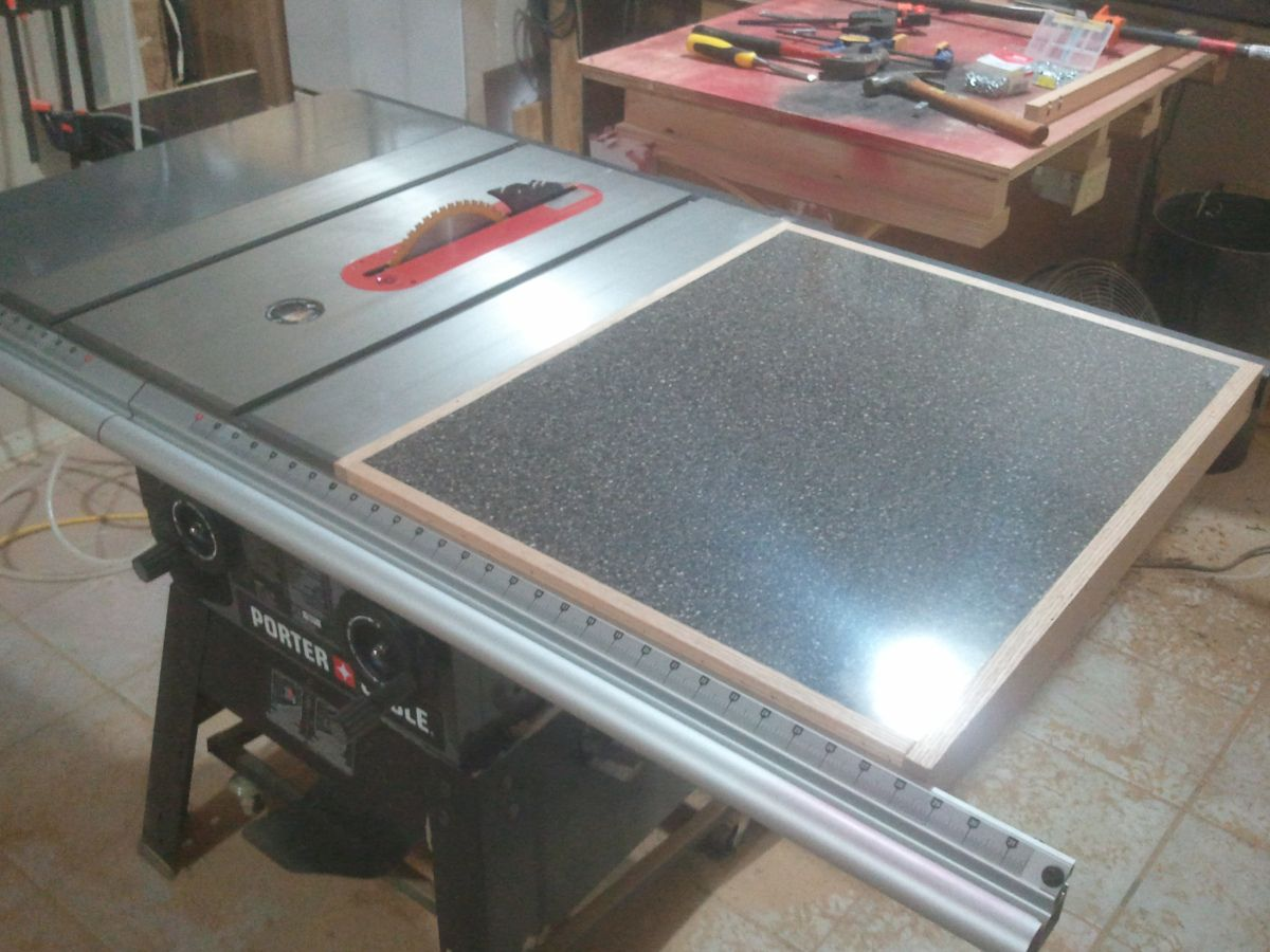 Adding a tablesaw extension wing garage workshop pinterest adding a tablesaw extension wing greentooth Image collections
