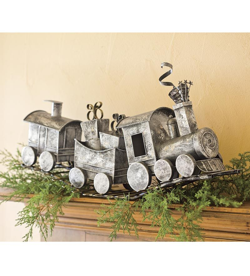 Holiday metal train home d cor christmas pinterest holidays and clay Metallic home decor pinterest