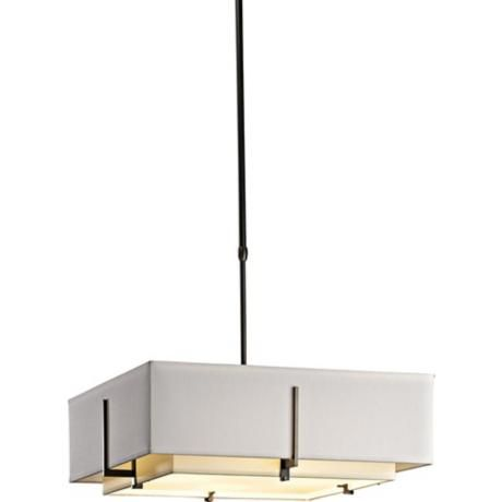 Hubbardton Forge Exos Double Shade Square Pendant Light