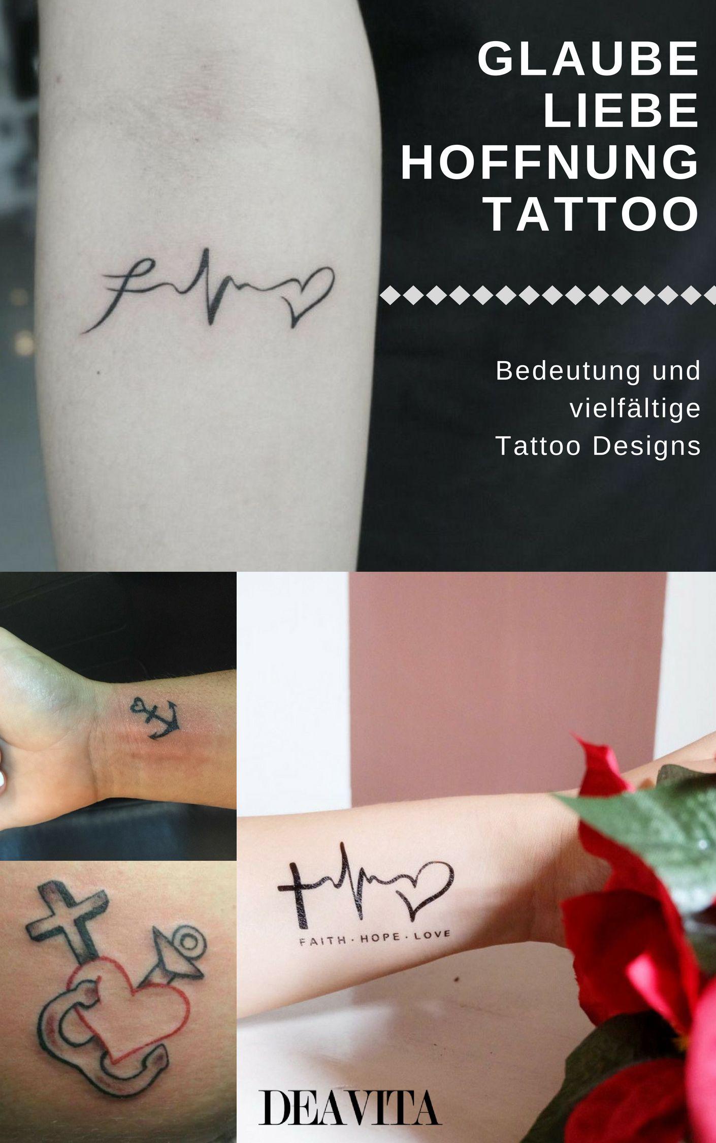 Glaube Liebe Hoffnung Tattoo - Bedeutung & vielfältige