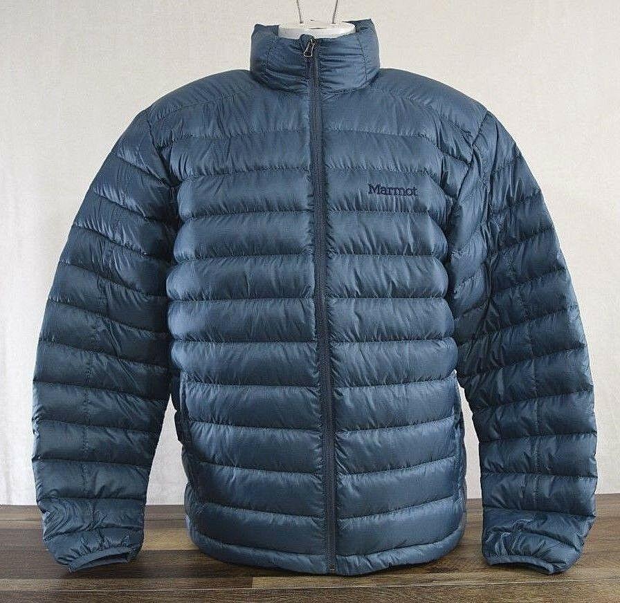 ac7946640 Marmot Men's Azos Down Jacket Winter Puffer LARGE Storm Cloud Blue ...