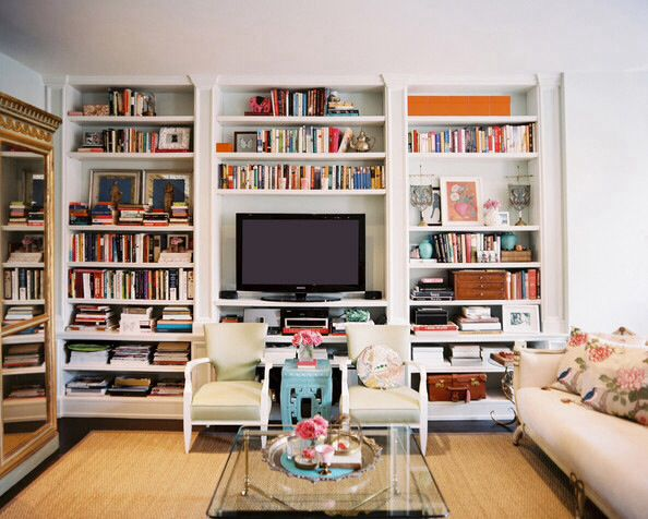 With A Tv In The Middle Bookshelves Built In Floor To Ceiling Bookshelves Built In Bookcase