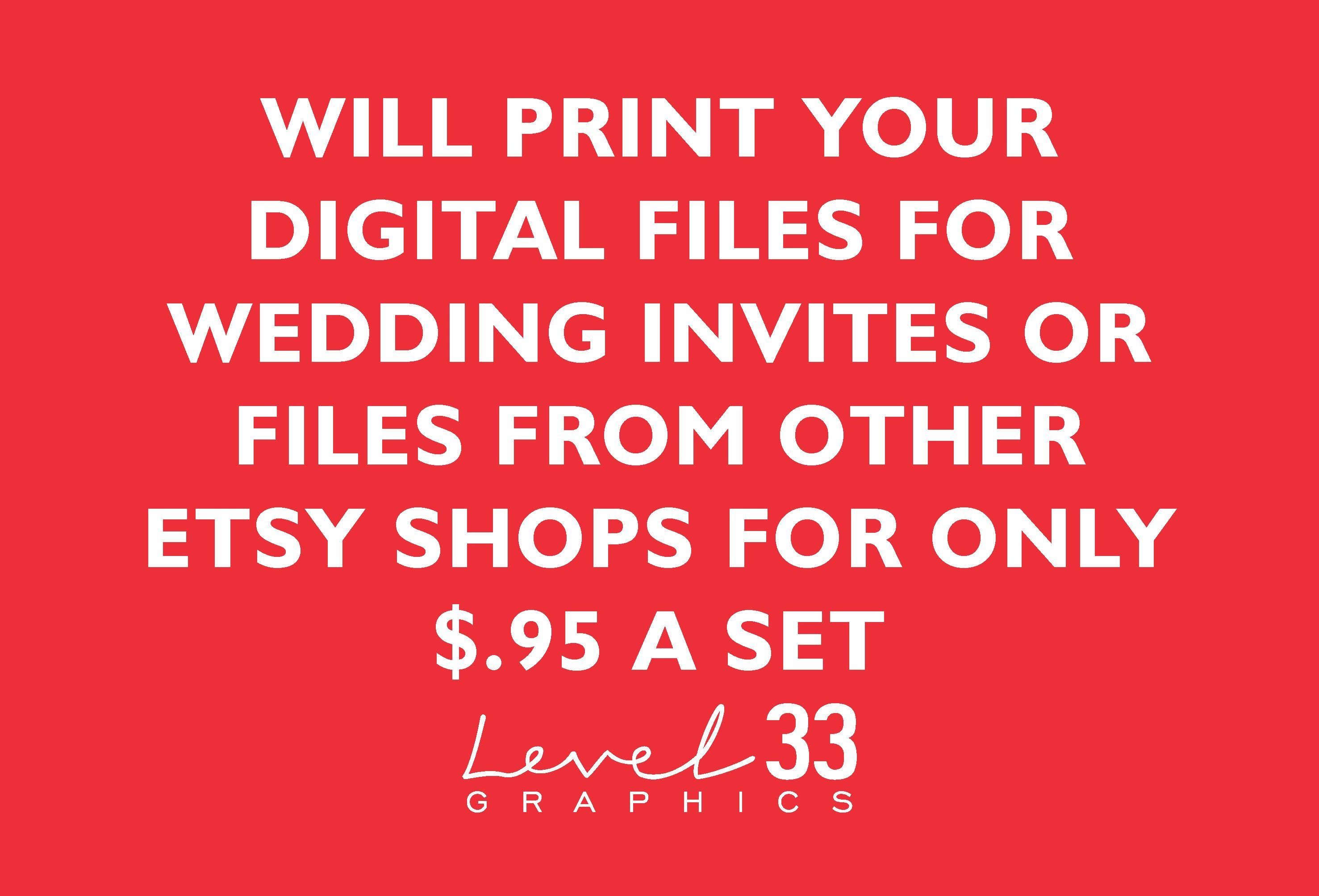Affordable Printing of your Digital Wedding Invitations, Rustic ...