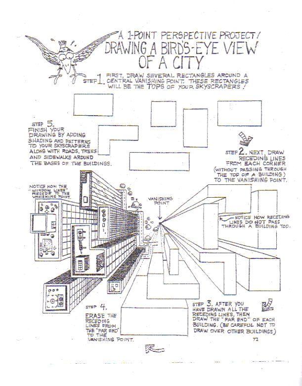 Perspective 1 Worksheet bird by BluewolfRdeviantart on – One Point Perspective Worksheet