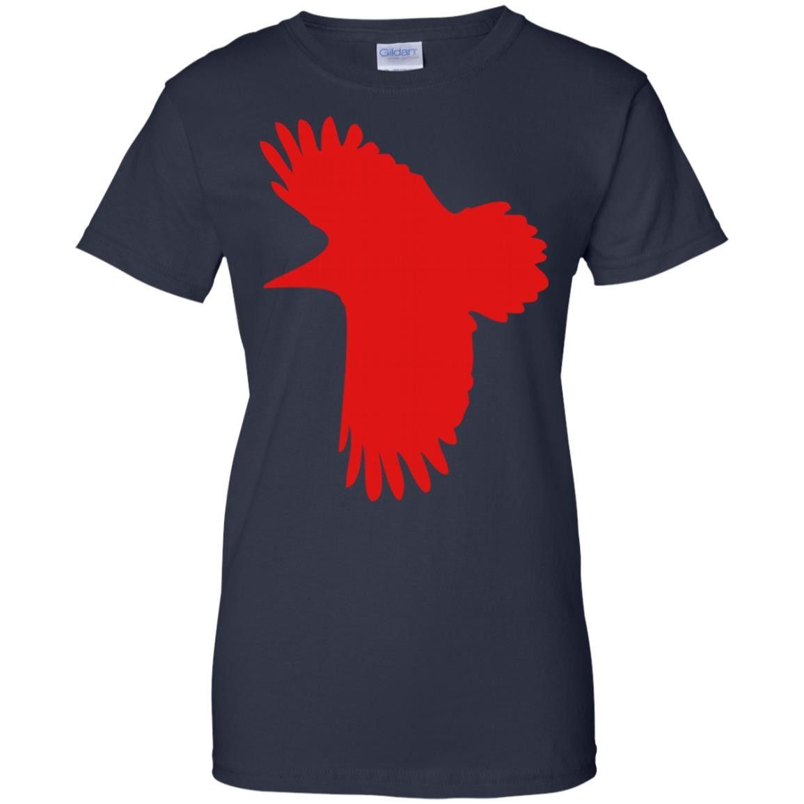 1 COLOR RAVEN MYSTICAL CROWS FLYING BIRDS G200L Gildan Ladies' 100% Cotton T-Shirt