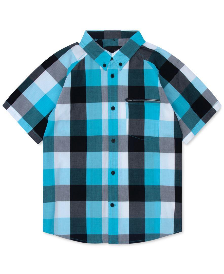 Flannel shirt for baby boy  Hurley Little Boysu Raglan Plaid Shirt  Products  Pinterest