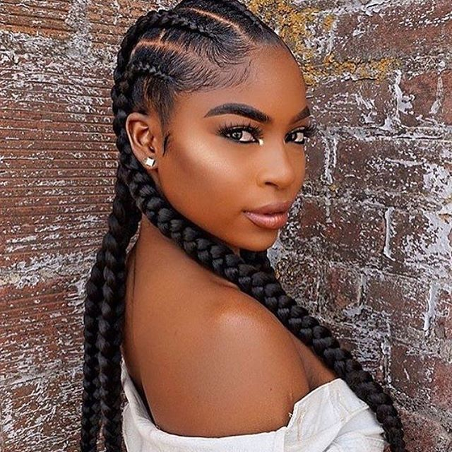 Simple And Elegant Beautiful Cornrows Lovely Make Up Cornrow Hairstyles Braids For Black Hair Hair Styles