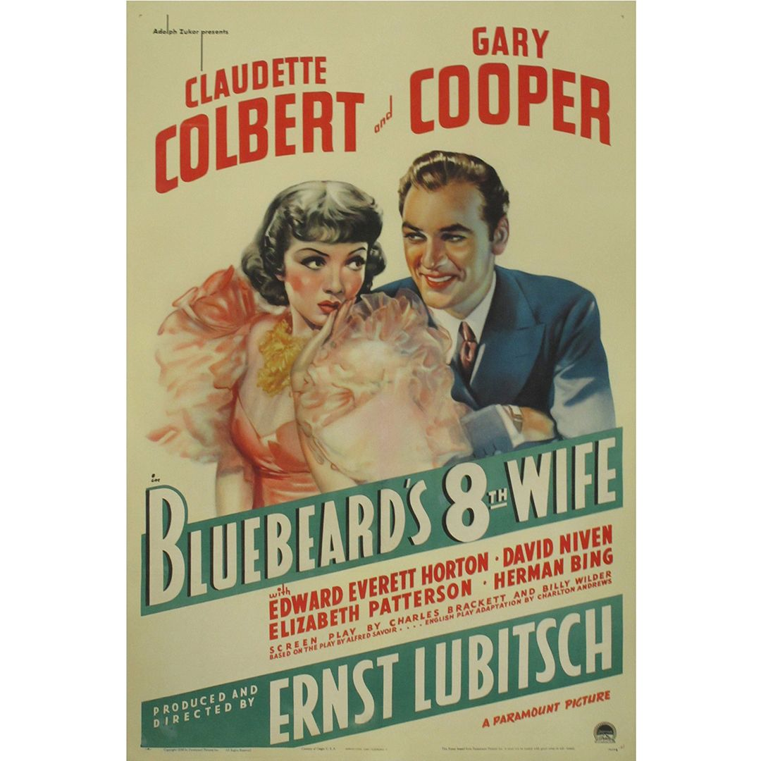 Bluebeard S Eighth Wife Movie Poster With Images Wife Movies