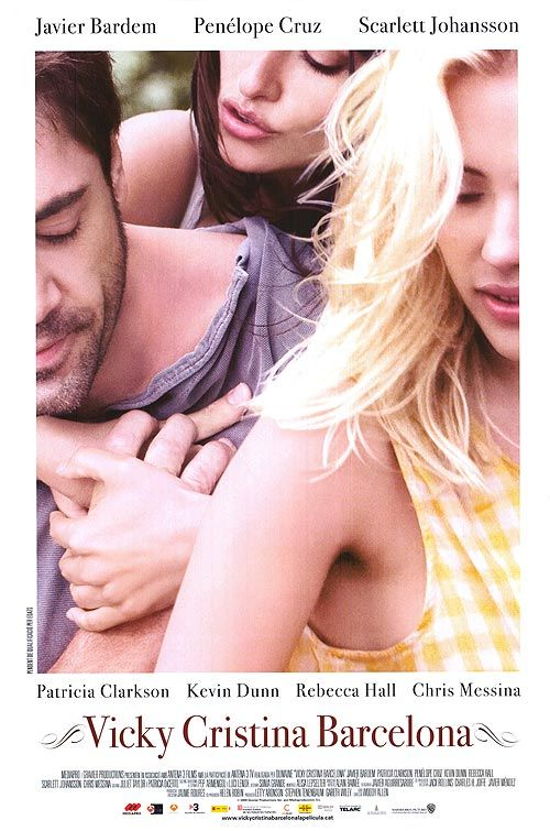 Vicky Cristina Barcelona Movie Posters At Movie Poster Warehouse Movieposter Co Woody Allen Javier Bardem Film