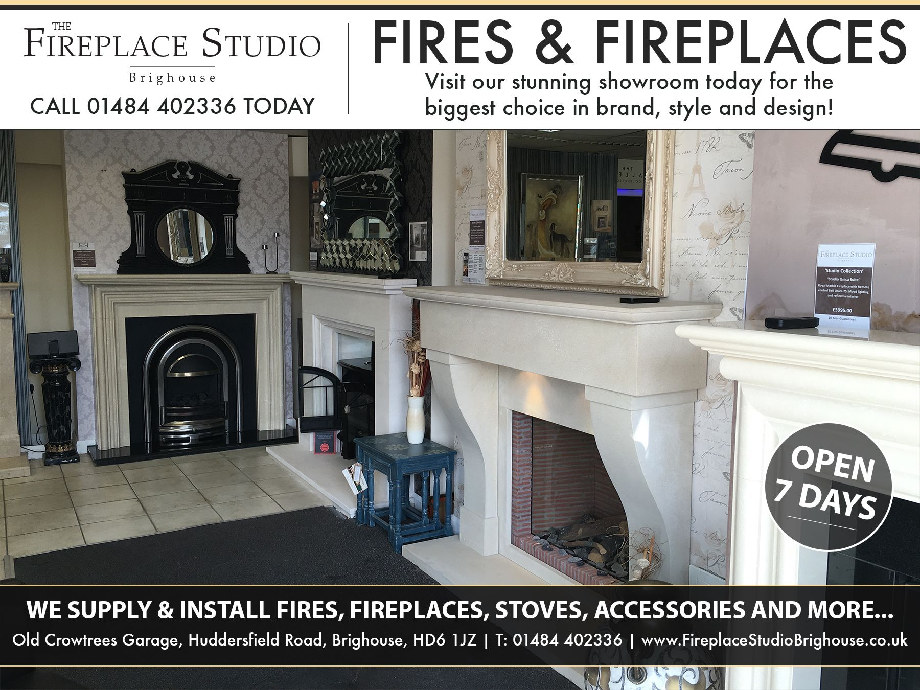 the fireplace studio brighouse is probably the most comprehensive