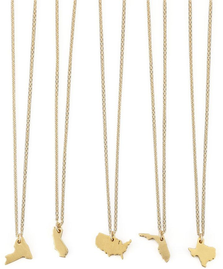 aeb65a0e4 Dogeared Golden Texas State Charm Necklace | The Ultimate Christmas Gift  Guide