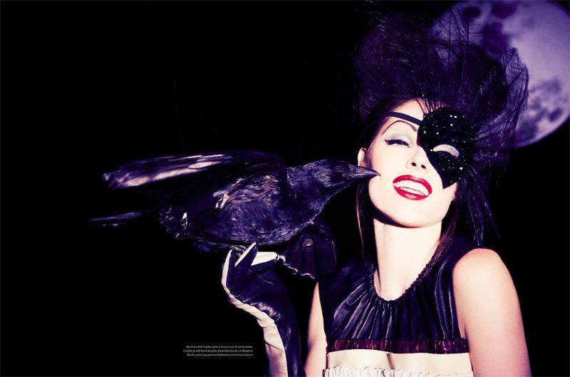 #houseofglam | Coco Rocha is B Movie Glam for Vs. Magazine by Ellen von Unwerth