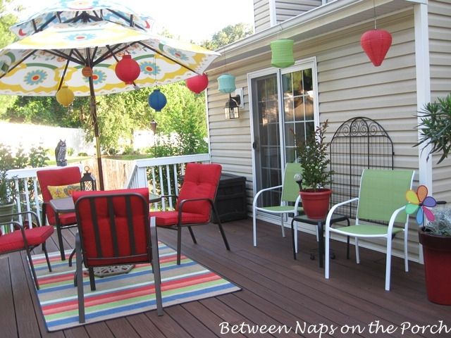 Ideas For Decorating My Deck | Shared Some Photos Of Her Deck All Decorated  For Summer Fun. Oh My .