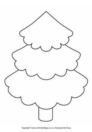 Christmas Tree Cut Out Template Tree Template This Pretty Tree