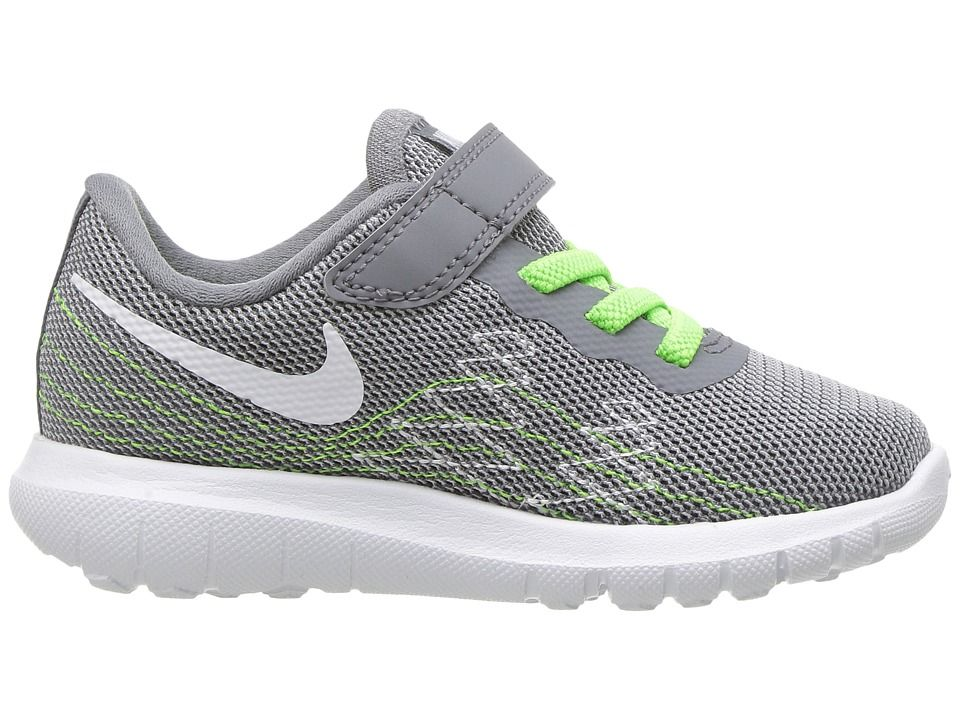 441da94bb0c7 Nike Kids Flex Fury 2 (Infant Toddler) Boys Shoes Cool Grey White Wolf  Grey Electric Green