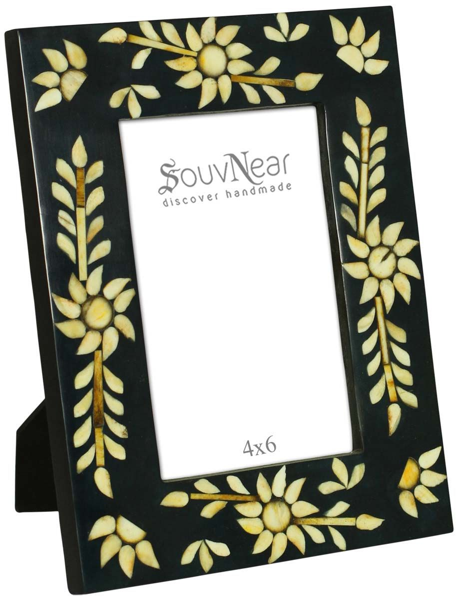 Rectangular Photo Frame in Black & Beige – Handmade in MDF & Res ...