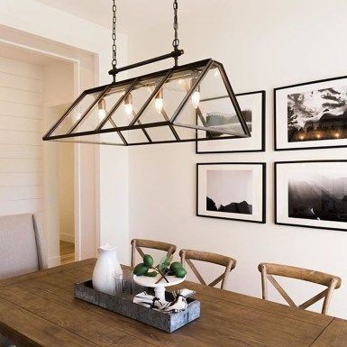30+ Modern Farmhouse Dining Room Decor Ideas lighting Pinterest