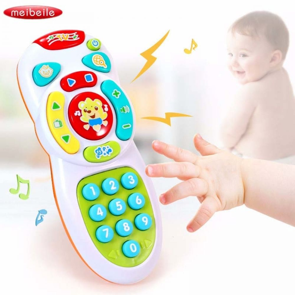 1Pc baby toys music mobile phone tv remote control early learning educational#E