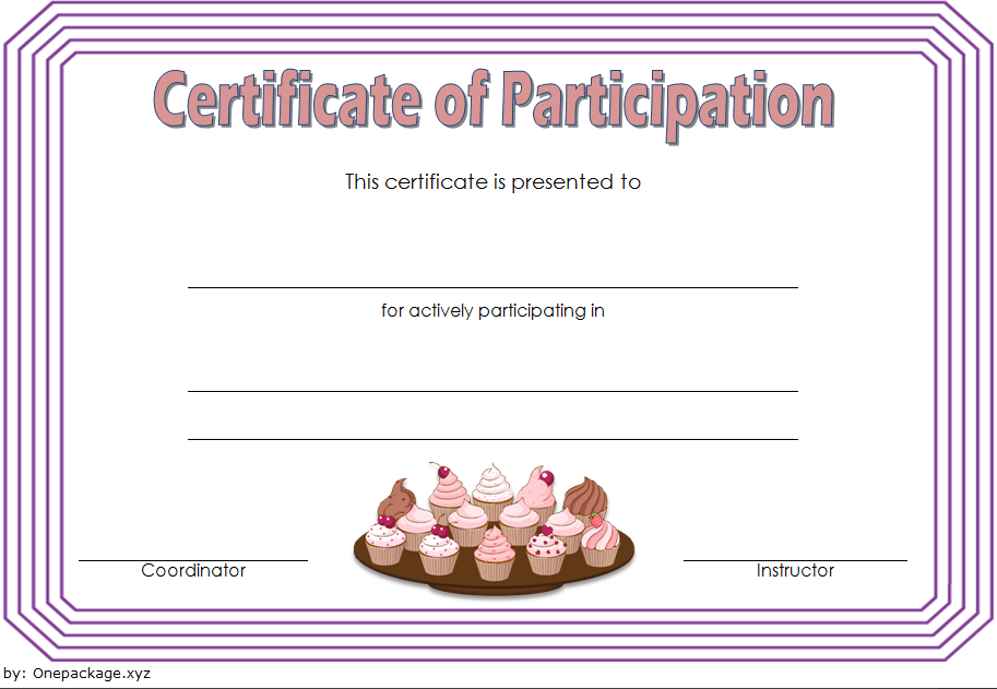 Cupcake Wars Certificate Of Participation Free 2 Cupcake Wars Certificate Templates Certificate