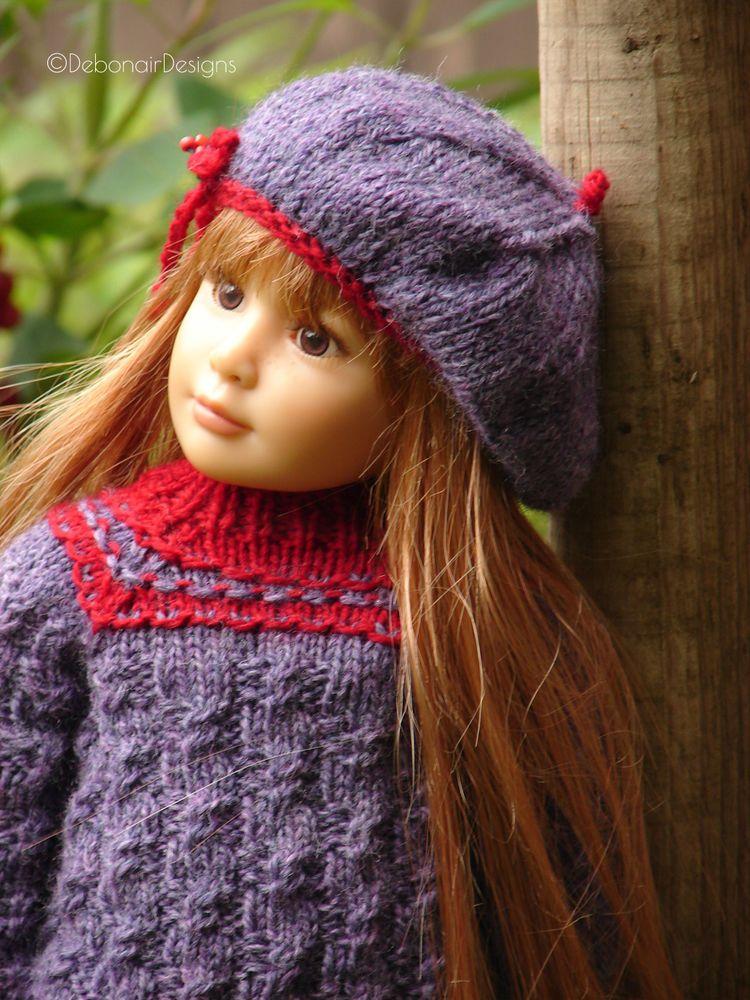 HandKnit Wool Sweater & Beret set for Kidz n Cats dolls by Debonair ...