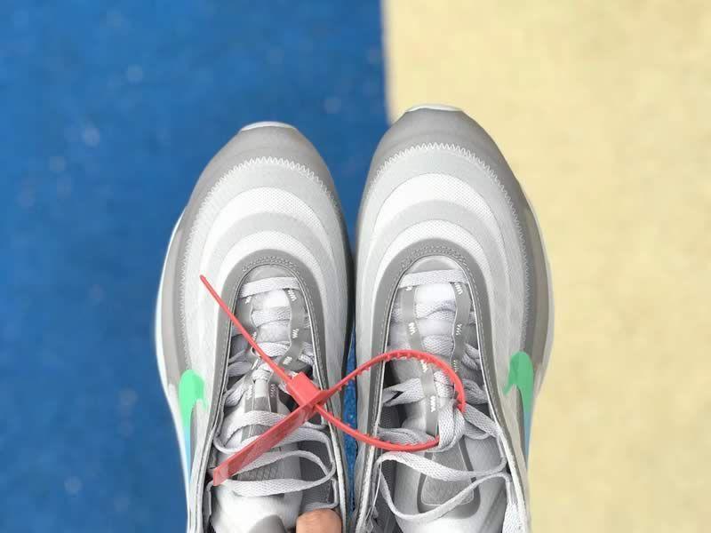 check out 88996 e0b18 Off White Nike Air Max 97 Green Grey Mens Womens Shoes AJ4585-012 Top Head