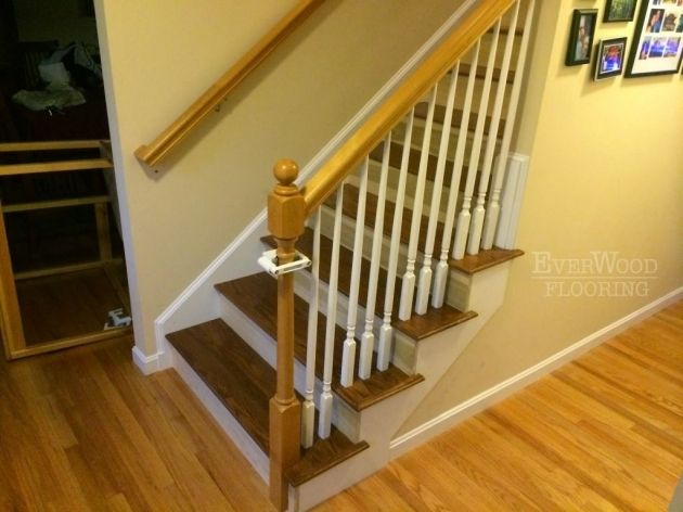 Best Marvelous Oak Stair Treads With Return Home Design Picture 400 x 300