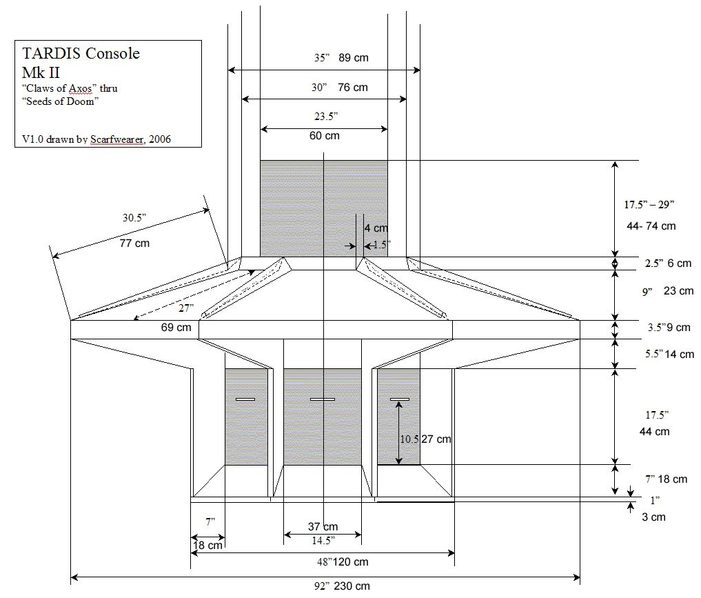 hight resolution of tardis console plans with measurements in cm 13th doctor eleventh doctor doctor who