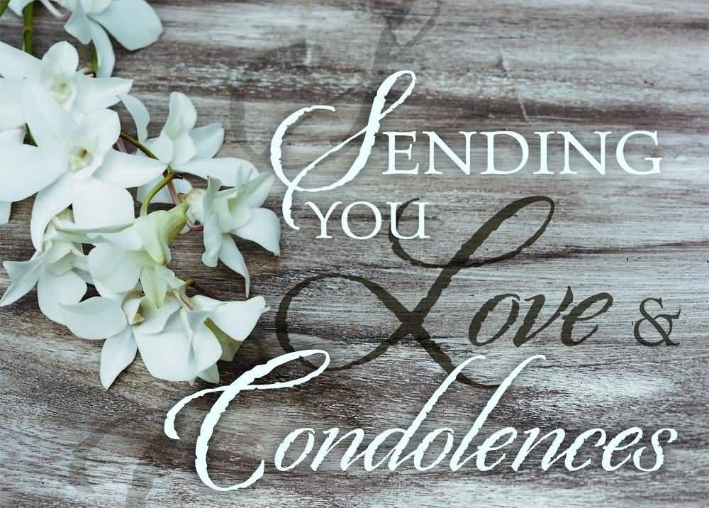 sending you love condolences condolence messages pinterest