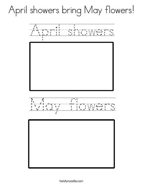 April showers bring May flowers Coloring Page - Twisty Noodle | PLC ...
