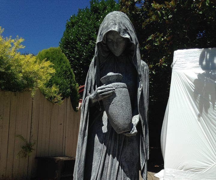 The Widow Halloween ideas - halloween statues