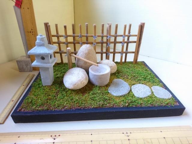 紙粘土で作るミニチュア 1 12 和風庭園 20200103 ハンドメイドマーケット Minne 和風庭園 紙粘土 庭園