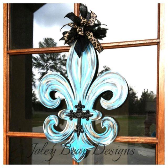 Front Door Hanger Fleur De Lis Decor Fdl